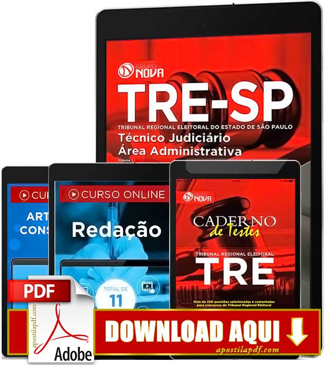 Apostila TRE SP 2016 Técnico Judiciário PDF Download