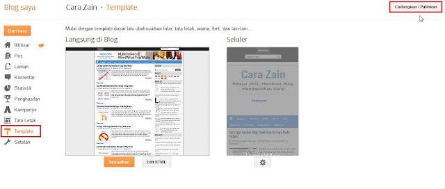 Cara Backup Template Blog Dan Mengembalikannya Terbaru