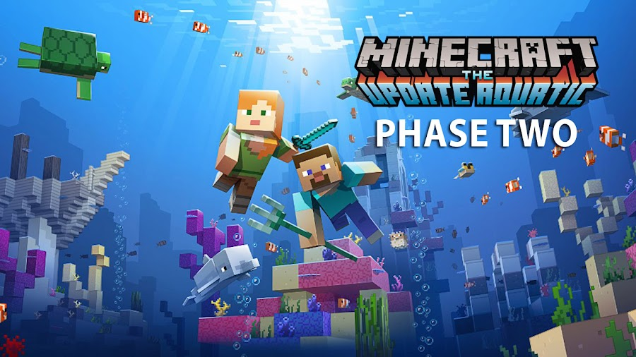 minecraft update aquatic pc xbox one nintendo switch