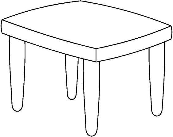 Tranh tô màu cái bàn