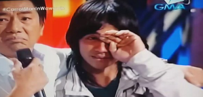 'Carrot Man' Jeyrick Sigmaton gets emotional with Willie Revillame