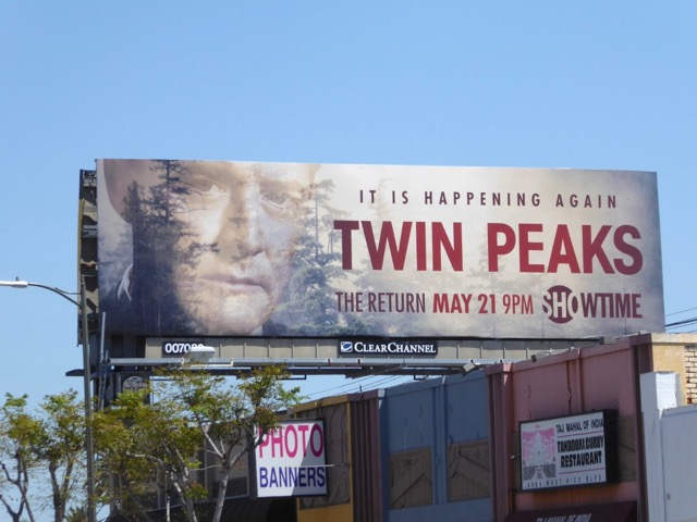 Agent Dale Cooper Twin Peaks Return billboard