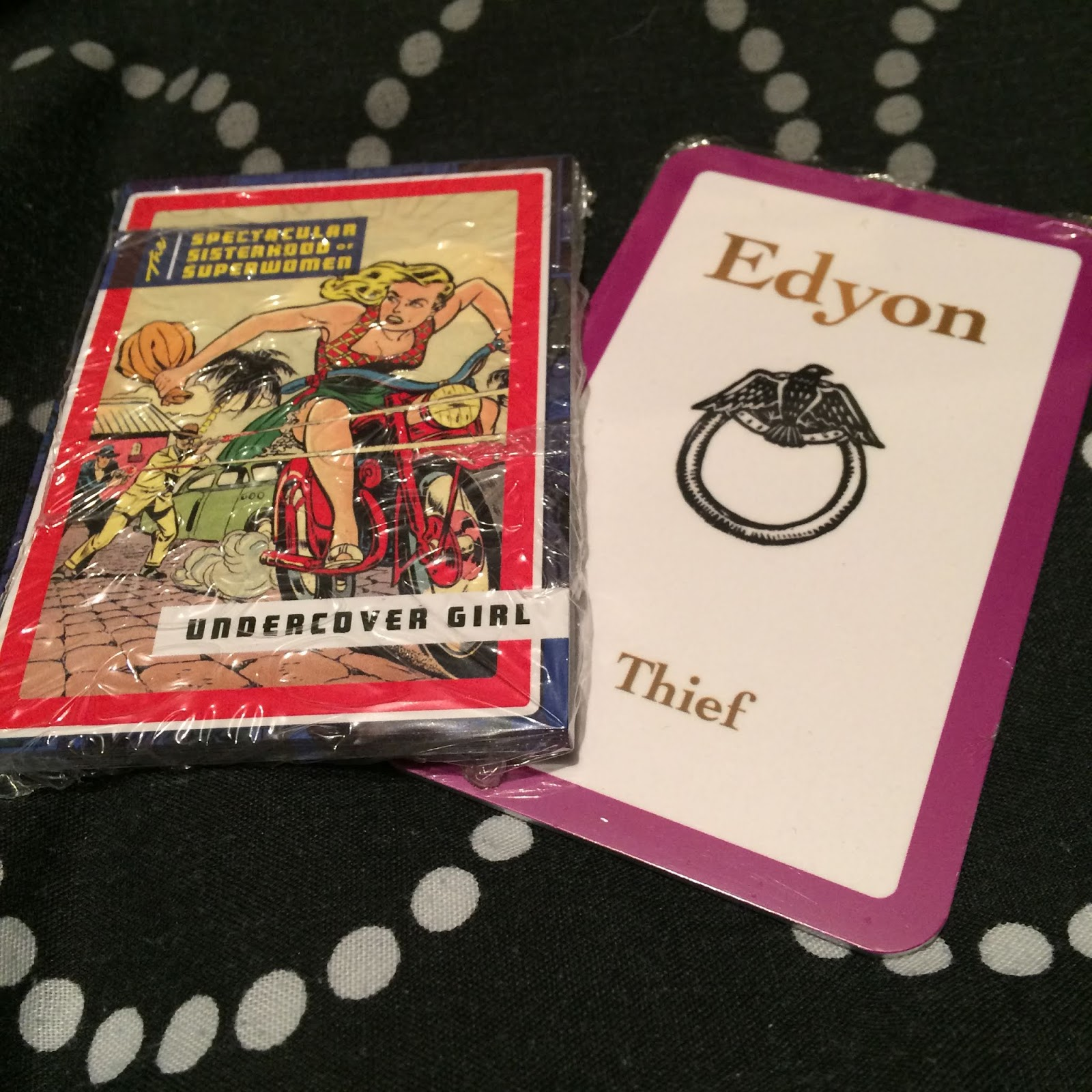 Trading cards for The Spectacular Sisterhood of Superwomen and Smoke Thieves