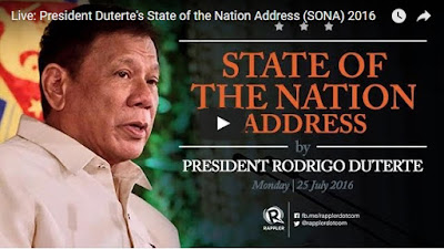 Pres. Duterte first SONA Replay Video