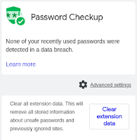 Password Check extension screenshot