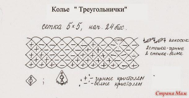Колье треугольнички схема