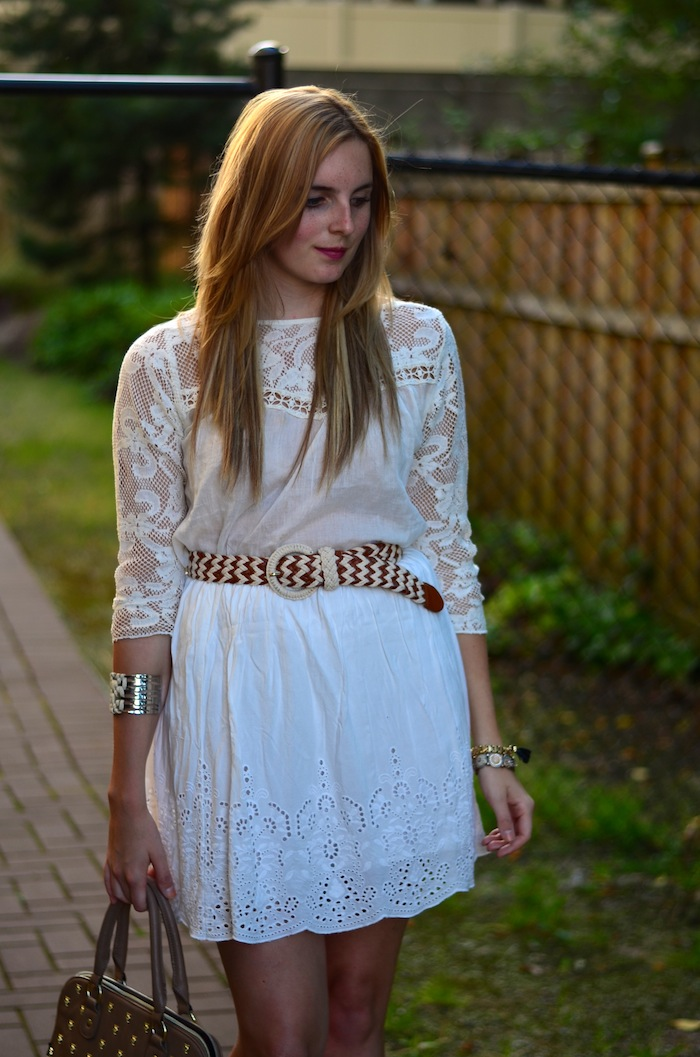 Crochet and eyelet Temperance Blouse