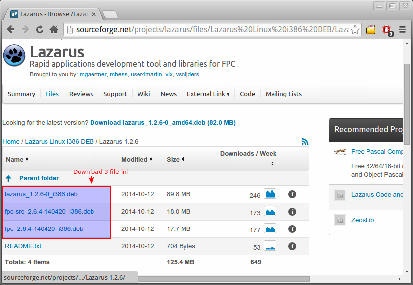 Download Lazarus di SourceForge