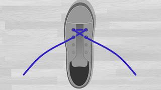 Cara Memasang Tali Sepatu Menyilang tutorial 3