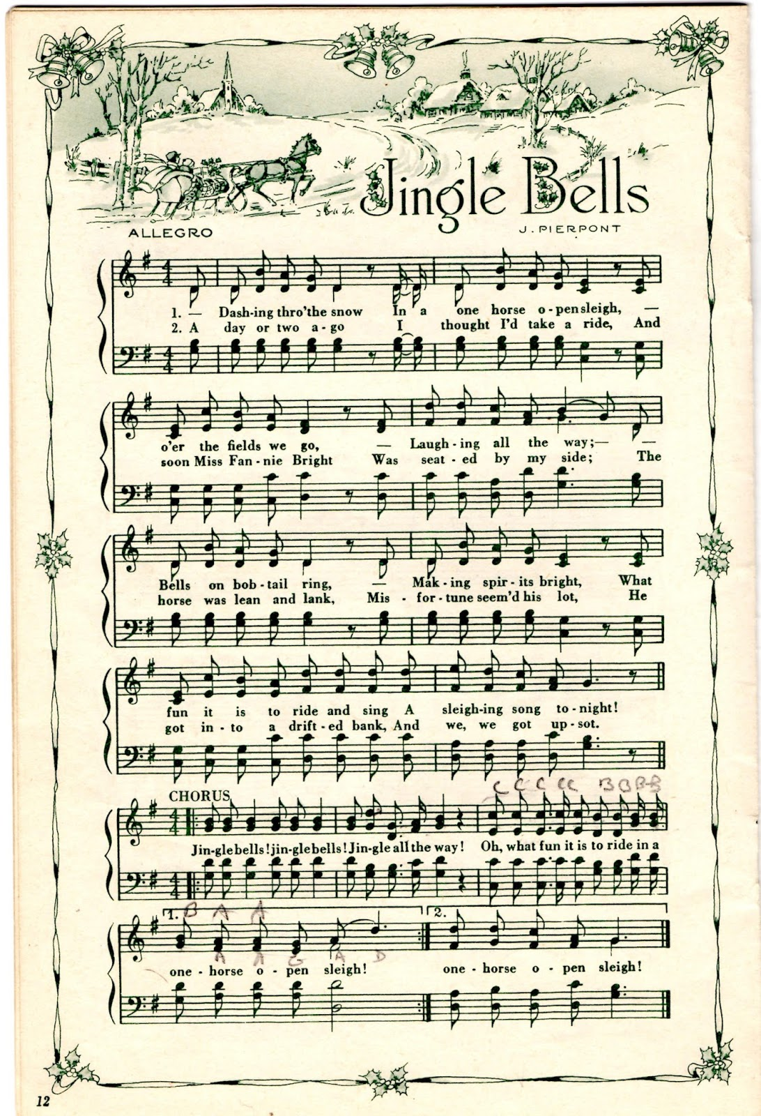 It is a picture of Slobbery Christmas Songs Sheet Music
