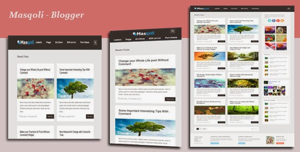 Download Free Masqoli Blogger Template