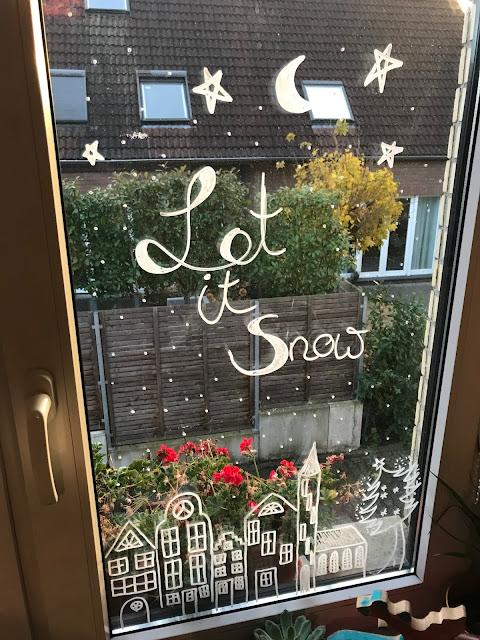 Wochenende in Bildern im November - Weihnachtliche Fensterdeko