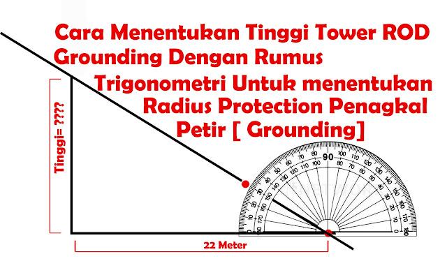 Menghitung Tinggi dan radius penangkal petir