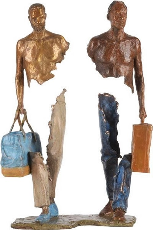 05-French-Artist-Bruno-Catalano-Bronze-Sculptures-Les Voyageurs-The-Travellers-www-designstack-co