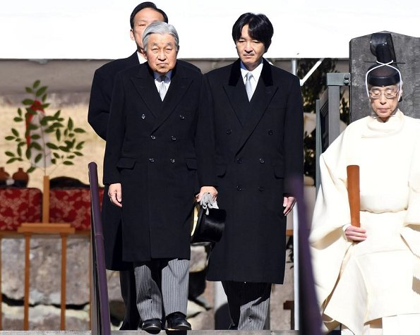 Crown Prince Naruhito, Crown Princess Masako, Emperor Akihito, Empress Michiko, Prince Akishino, Princess Kiko and Princess Hisako