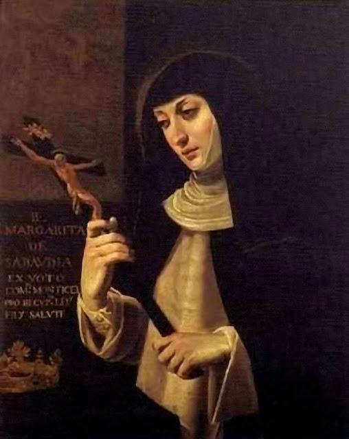A Beata Margarida de Saboia, abadessa, foi testemunha