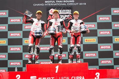 Mario SA podium 2 di Asia Talent Cup (ATC) 2018 seri 2 Buriram