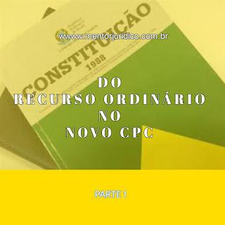 Recurso ordinário no NCPC