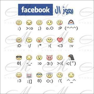 رموز الفيس بوك