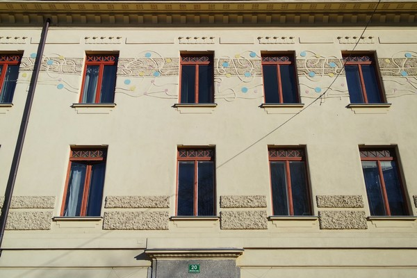 ljubljana art nouveau miklošičeva cesta maison krisper parc Miklošič