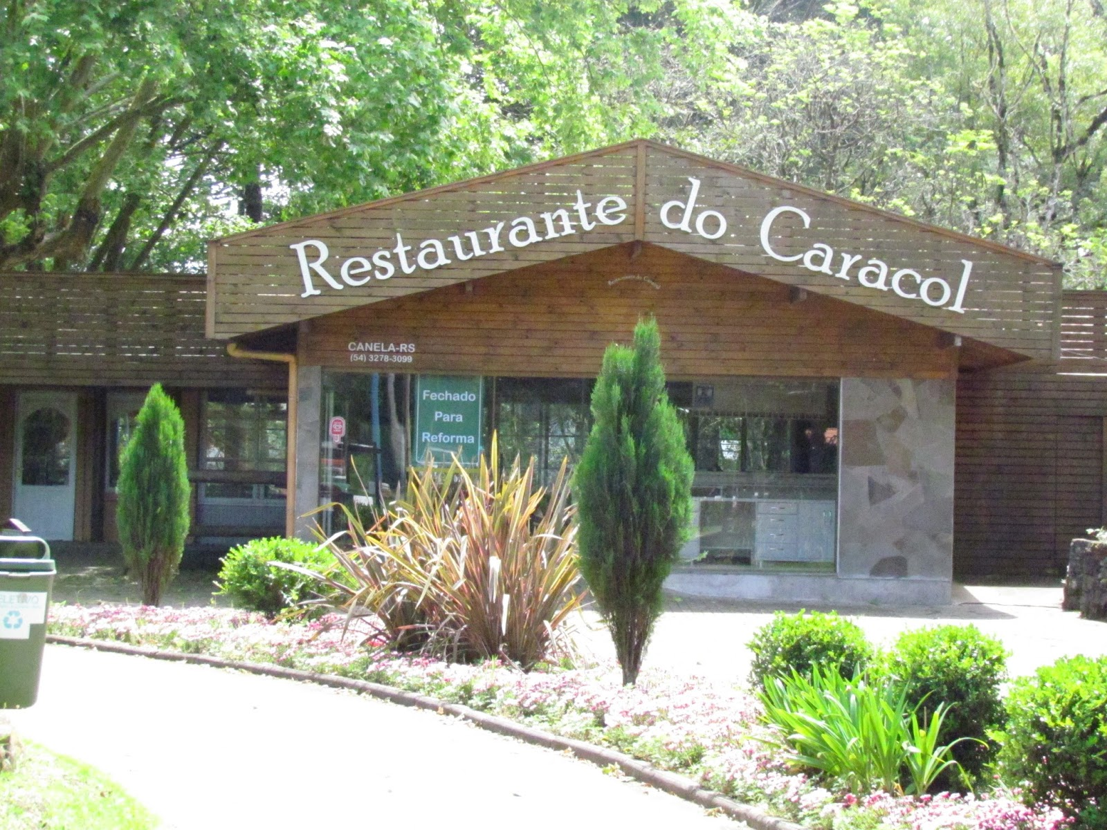 Restaurante no parque do Caracol