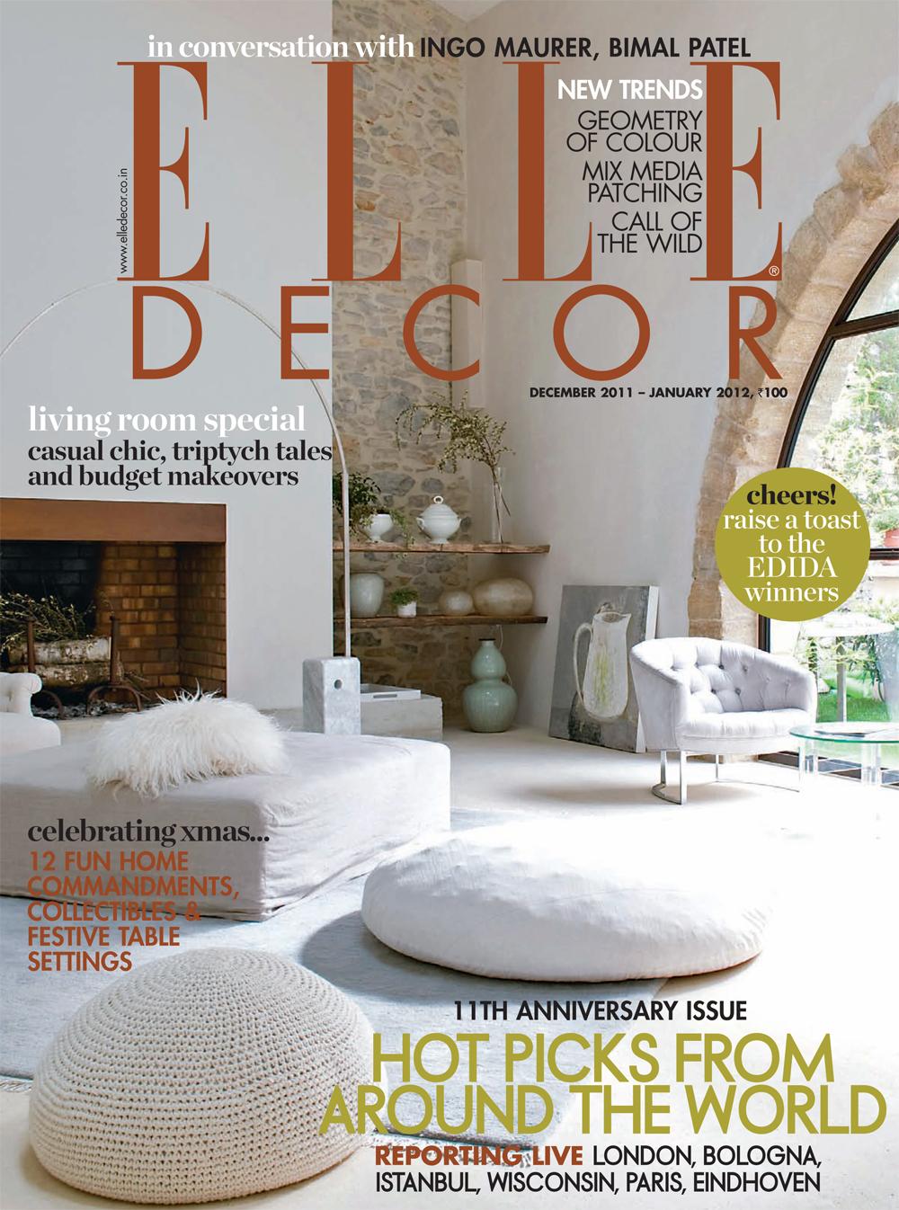 Alabasta Elle Decor India Magazine December 2011