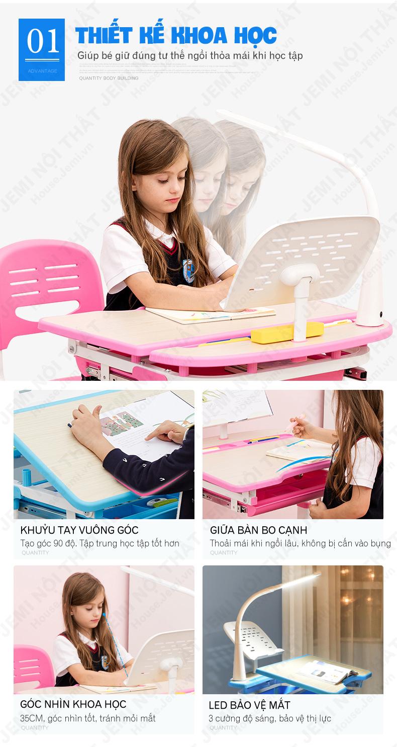 Bàn học thông minh cho bé có thiết kế khoa học