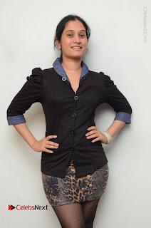 Telugu Actress Priyanka Pallavi Stills in Micro Mini Skirt at Nenosthaa Movie Song Launch at Radio City  0027.JPG