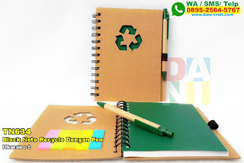 Block Note Recycle Dengan Pen