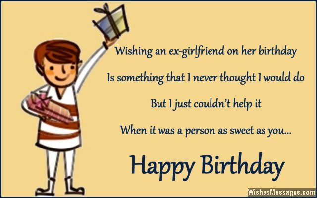 birthday ex?? an happy to Saying