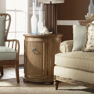 tommy bahama drum accent table