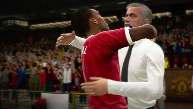 José Mourinho e Anthony Martial já comemoram gols nos trailers de FIFA 17