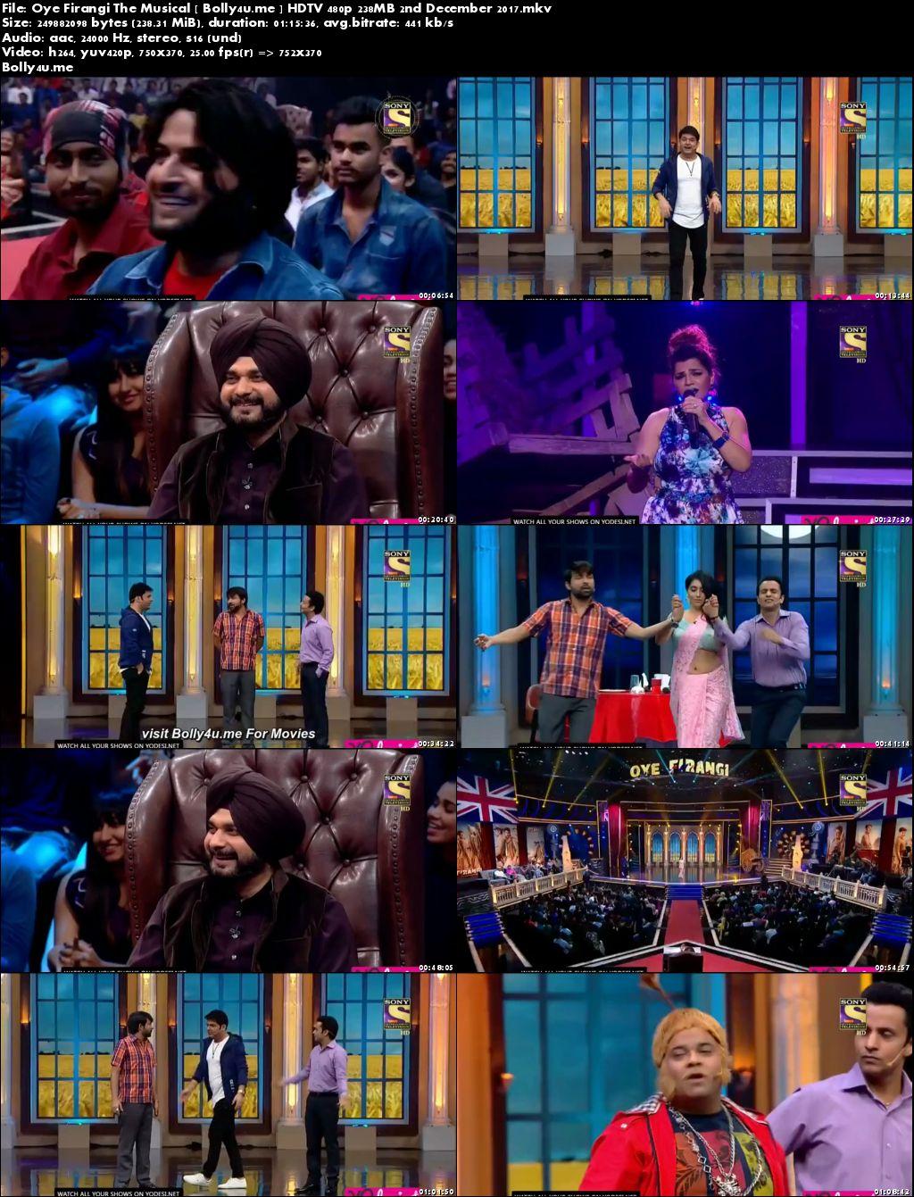 Oye Firangi The Musical HDTV 480p 200MB 02 December 2017 Download