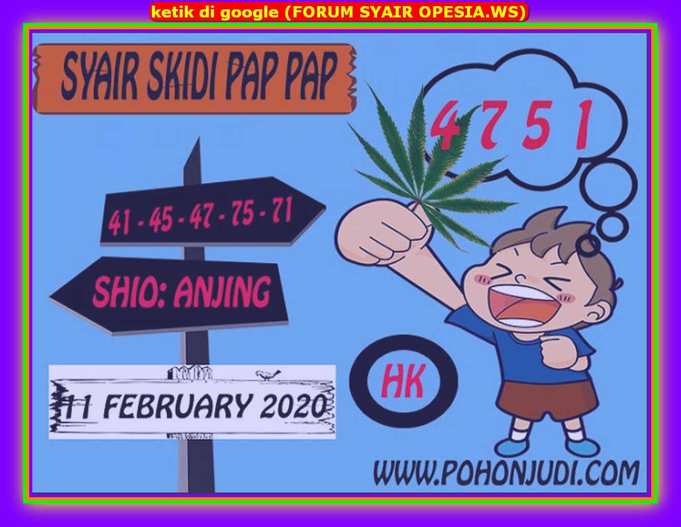 Kode syair Hongkong Selasa 11 Februari 2020 165