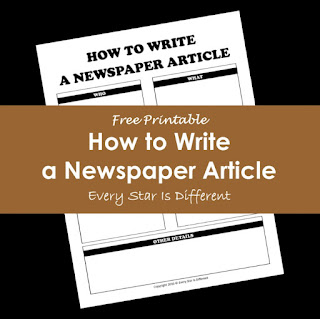 How to write a newspaper article free printable.