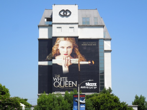 White Queen series premiere giant TV billboard