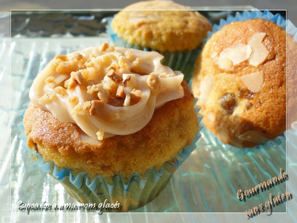 Cupcakes aux marrons glacés sans gluten