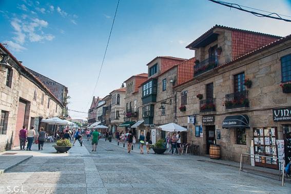 Calle de Cambados. Galicia