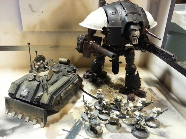 Imperial Knight Paladin and 40K Chimera Fire Barrels Conversion Genestealer Cult Parts