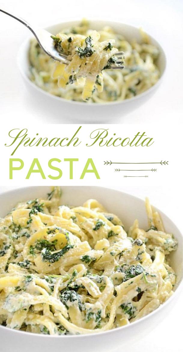 EASY SPINACH RICOTTA PASTA #vegetable #ricotta