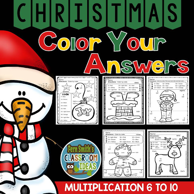 https://www.teacherspayteachers.com/Product/Christmas-Fun-Multiplication-Facts-Six-to-Ten-Color-Your-Answers-Printables-2173678