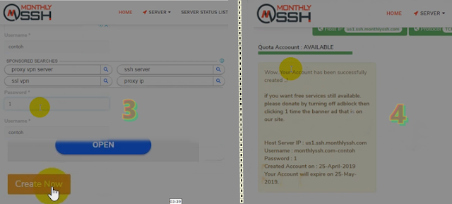 Membuat SSH/SSL 30 Days Di Monthlyssh.com