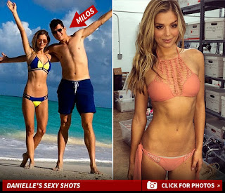 Milos having fun with his girlfriend Danielle at the beach