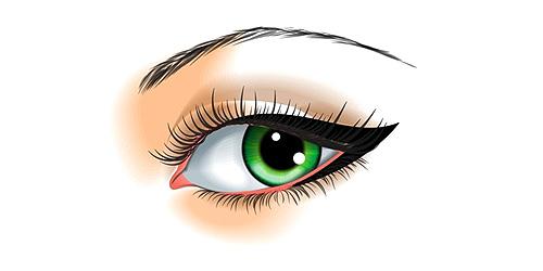 delineado para ojos pequeños