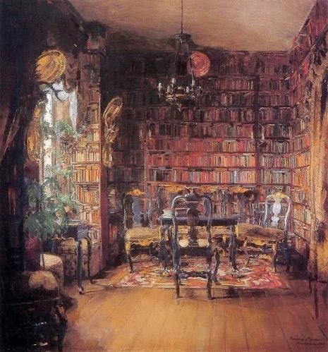 La biblioteca de Thorvald Boeck (1902) Harriet Backer (Noruega, 1845 - 1932)