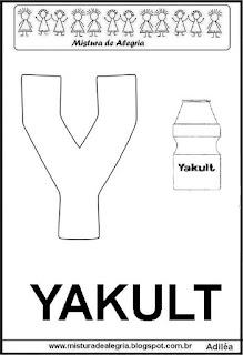 Alfabeto cartaz letra Y