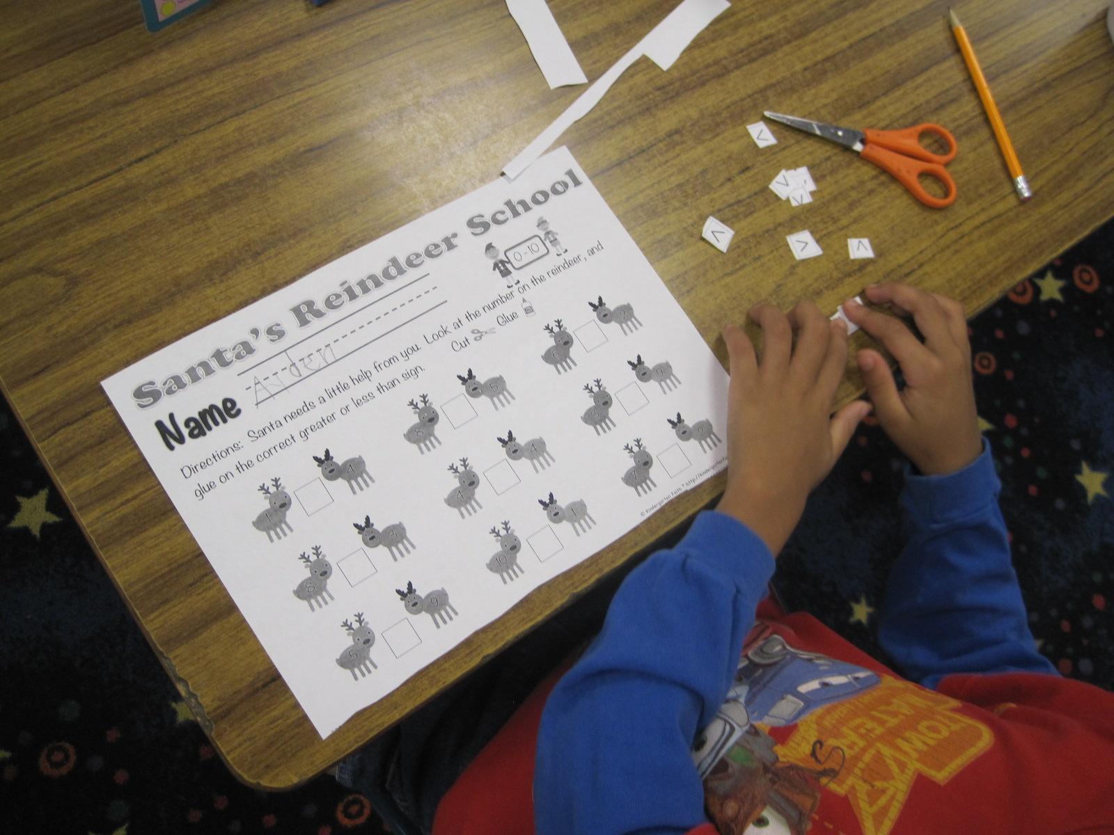 Kindergarten Faith Reindeer Fun Santa S Reindeer School