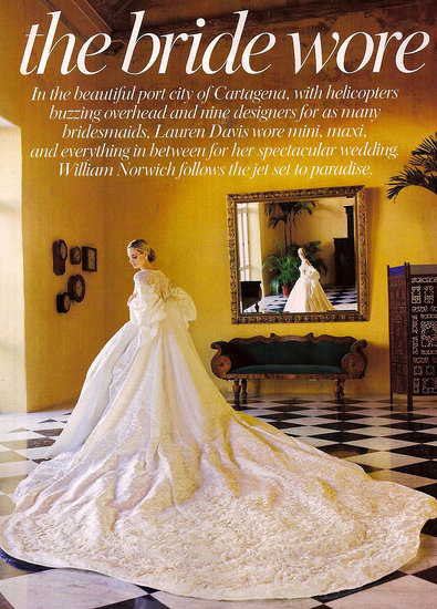 Herself Among The Social Set When She Married Andres Santo Domingo A Member Of Columbia S Richest Family In Decadent Three Day Wedding Celebration