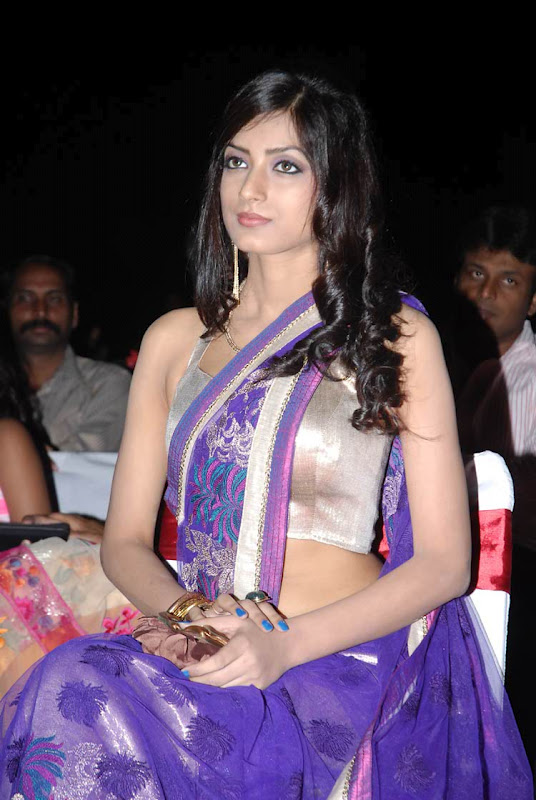 perfect beauty and charming Ruby parihar hot navel show stills in saree