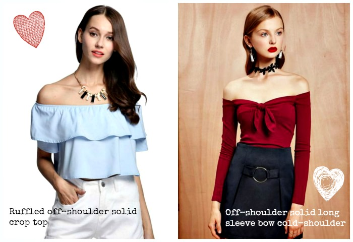 summer off shoulder tops